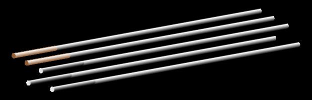 Binzel Tungsten Electrode Welding Electrode E3 3,2 x 175mm-Purple 10er Pack