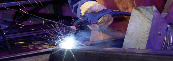 MIG/MAG Welding Torch ABIMIG® A T LW in action