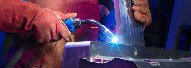 MIG/MAG Welding Torch ABIMIG® W T in action