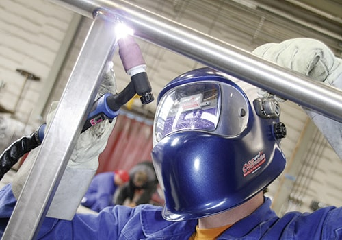 E & F Metals ABITIG Welding Torch in Action