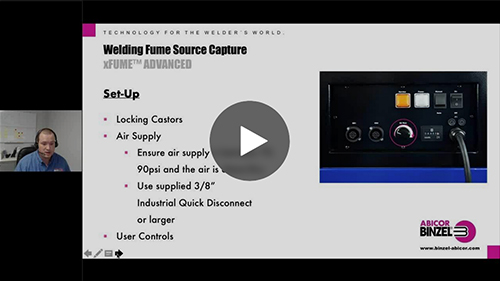 Welding Fume Source Capture with Abicor Binzel xFume Products