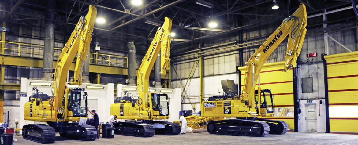 Final inspection test of the excavators from Komatsu